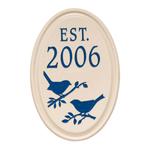 Bird Established Ceramic Personalized Plaque Blue Engraving & Bristol Plaque