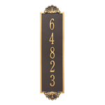 Personalized Shell Vertical Finish, Estate Wall Plaque