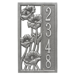 Personalized Flowering Poppies Vertical Wall Plaque