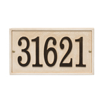 Personalized Stonework Sandstone Plaque Rectangle Wall with One Line of Text