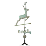 Copper Deer Weathervane Verdigris