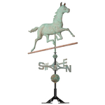 Copper Horse Weathervane Verdigris