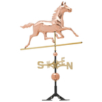 Copper Horse Weathervane Polished