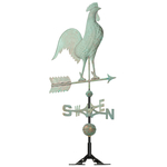 Copper Rooster Weathervane Verdigris