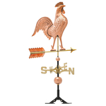 Copper Rooster Weathervane Polished