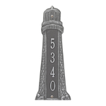 Personalized Lighthouse Vertical Plaque Pewter Silver