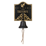 Personalized Anchor Bell Welcome Plaque Black & Gold