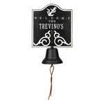 Personalized Anchor Bell Welcome Plaque Blue & White