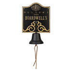 Personalized Lighthouse Bell Welcome Plaque Black & Gold