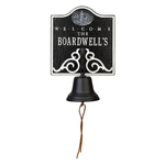 Personalized Lighthouse Bell Welcome Plaque Blue & White