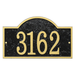 Fast & Easy Arch House Numbers Plaque Black & Gold
