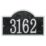 Fast & Easy Arch House Numbers Plaque Black and Silver