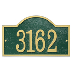 Fast & Easy Arch House Numbers Plaque Green and Gold