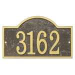 Fast & Easy Arch House Numbers Plaque Bronze and Gold