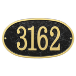 Fast & Easy Oval House Numbers Plaque Black and Gold