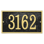 Fast & Easy Rectangle House Numbers Plaque Black and Gold