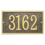 Fast & Easy Rectangle House Numbers Plaque Bronze and Gold