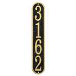 Fast & Easy Vertical House Numbers Plaque Black and Gold