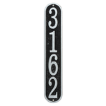 Fast & Easy Vertical House Numbers Plaque Black and Silver
