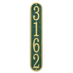 Fast & Easy Vertical House Numbers Plaque Green and Gold