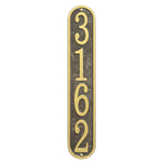 Fast & Easy Vertical House Numbers Plaque Bronze and Gold