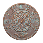 Irish Blessings 12 in. Indoor Outdoor Wall Thermometer Copper Verdigris