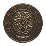 Irish Blessings 12 in. Indoor Outdoor Wall Thermometer French Bronze