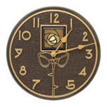 Amber Dard Hunter Rose 12 in. Indoor Outdoor Wall Clock French Bronze