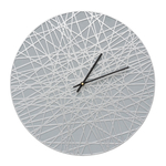 Banded 16 in. Indoor Outdoor Wall Clock Grey & Silver