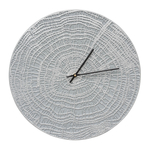 End Grain 16 in. Indoor Outdoor Wall Clock Grey & Silver