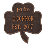 Shamrock Address Plaque Antique Copper