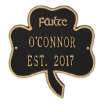 Shamrock Address Plaque Black Gold