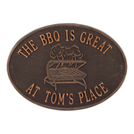 Personalized Grill Plaque Antique Copper