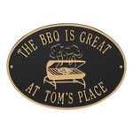 Personalized Grill Plaque Black & Gold