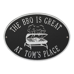 Personalized Grill Plaque Black & Silver