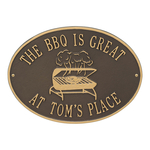 Personalized Grill Plaque Bronze & Gold