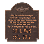 Claddagh Poem Plaque Antique Copper
