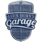 Car Grille Garage Finish, Standard Wall One Line Dark Blue & Silver