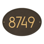Hawthorne Modern Personalized Wall Plaque Aged Bronze