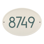 Hawthorne Modern Personalized Wall Plaque Coastal Green