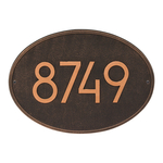Hawthorne Modern Personalized Wall Plaque Oil Rubbed Bronze