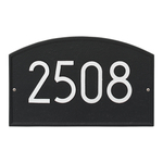 Legacy Modern Personalized Wall Plaque Black & Silver
