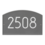 Legacy Modern Personalized Wall Plaque Pewter & Silver