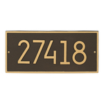 Hartford Modern Personalized Wall Plaque Aged Bronze