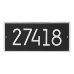 Hartford Modern Personalized Wall Plaque Black & Silver