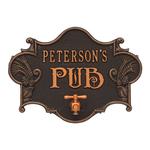 Hops & Barley Beer Pub Plaque Oil Rubbed Bronze