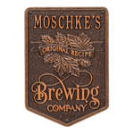 Original Recipe Brewing Company Beer Plaque, Finish, Standard Wall 1-line Antique Copper