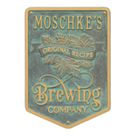 Original Recipe Brewing Company Beer Plaque, Finish, Standard Wall 1-line Bronze Verdigris