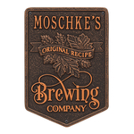 Original Recipe Brewing Company Beer Plaque, Finish, Standard Wall 1-line Oil Rubbed Bronze