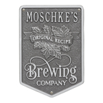 Original Recipe Brewing Company Beer Plaque, Finish, Standard Wall 1-line Pewter & Silver